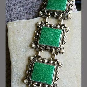 Vintage green brooch